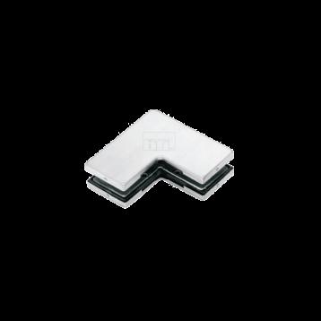 BTL Stainless Steel Finish Top Fix Corner L Patch For Glass Door