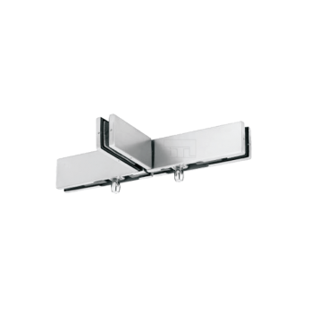BTL Stainless Steel Finish Solid Sleek Bottom Patch For Glass