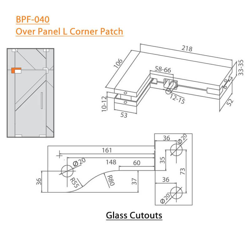 BTL BPF-040 Over Panel L Corner Patch