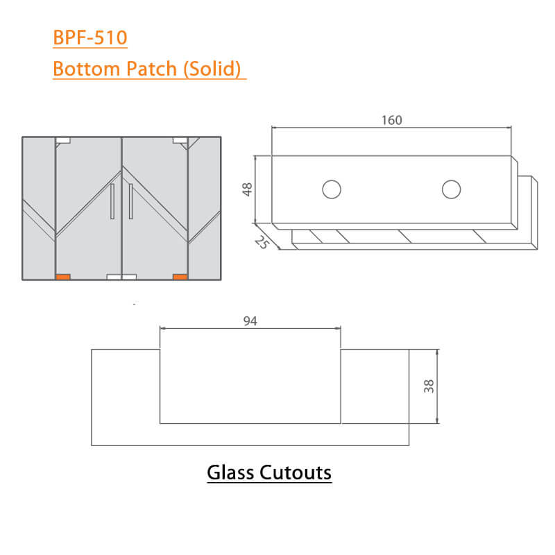 BTL BPF-510 Bottom Patch Solid For glass - Specifications