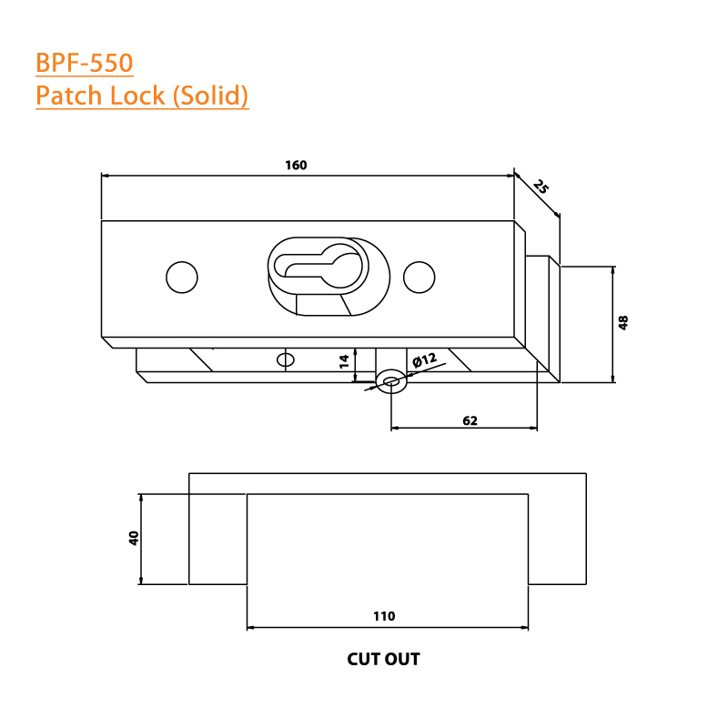BTL BPF-550 Patch Lock Solid For Glass - Specifications