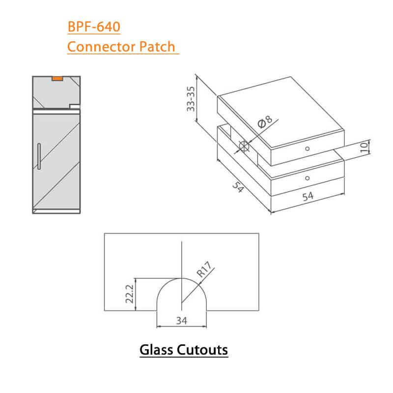 BTL BPF-640 Connector Patch For Glass Door